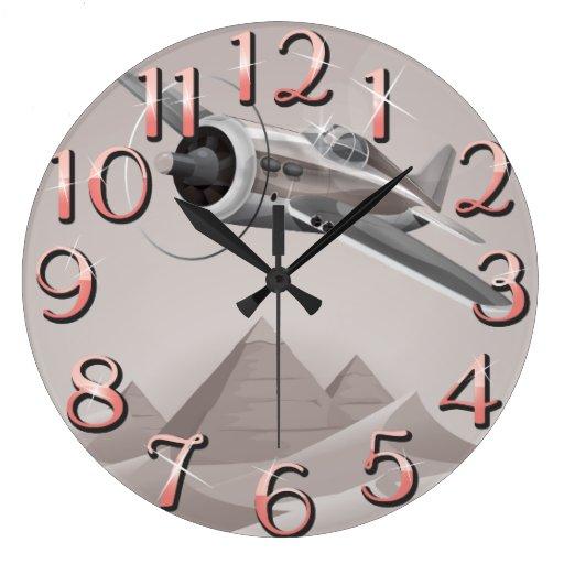 Aventura de Egipto Reloj Redondo Grande