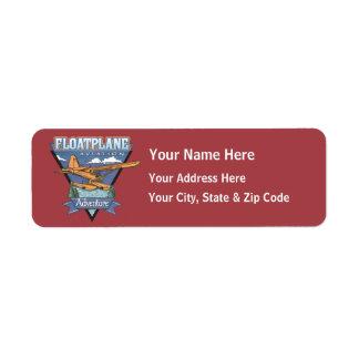 Aventura de la aviación de Floatplane Etiquetas De Remite