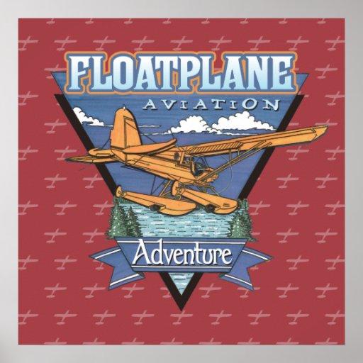 Aventura de la aviación de Floatplane Póster