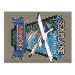 Aventura de la aviación del hidroavión tarjeta postal
