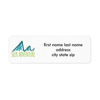 Aventura de la búsqueda etiquetas de remite