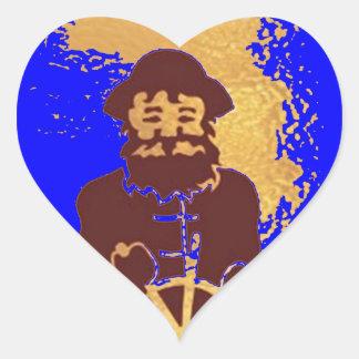 Aventura de la mafia del océano:  Joshino Novino Pegatina En Forma De Corazón
