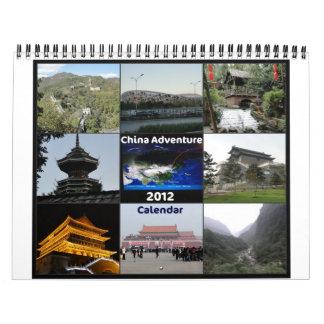 Aventura de la panda de China - calendario 2012