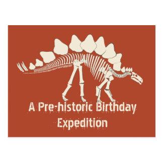 Aventura del cumpleaños del dinosaurio postal