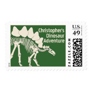 Aventura del dinosaurio sello