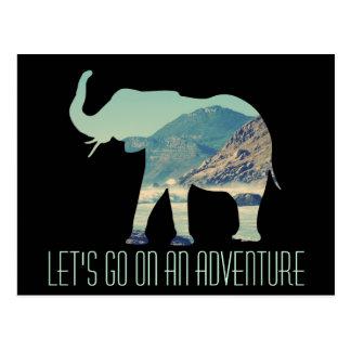 Aventura del elefante tarjetas postales