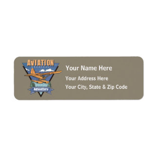 Aventura del hidroavión de la aviación etiqueta de remite