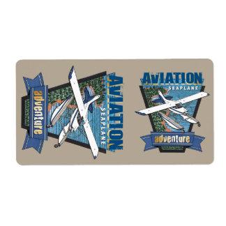Aventura del hidroavión de la aviación etiquetas de envío