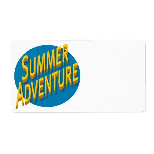 Aventura del verano etiquetas de envío