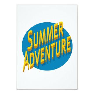 """Aventura del verano invitación 5"""" x 7"""""""