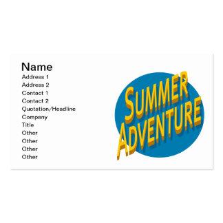 Aventura del verano tarjetas de visita
