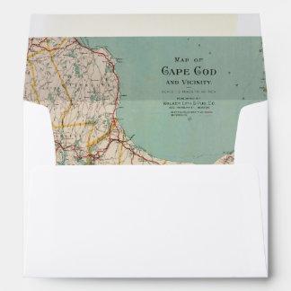 Aventura del viaje de Cape Cod del mapa del Sobre