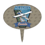 Aventura septentrional Canadá de la aviación Figura Para Tarta