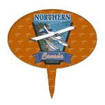 Aventura septentrional Canadá de la aviación Figuras Para Tartas