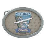Aventura septentrional Canadá de la aviación Hebilla De Cinturón Oval