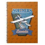 Aventura septentrional Canadá de la aviación Cuaderno