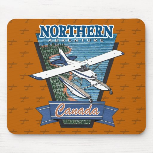 Aventura septentrional Canadá de la aviación Tapete De Ratones