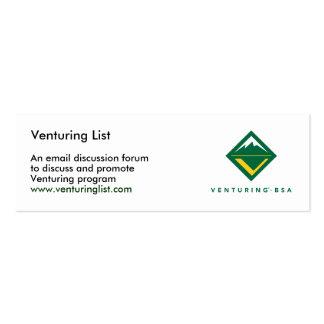 Aventurar tarjetas de la lista tarjetas de negocios