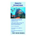 Aventuras acuáticas, tarjeta del estante lona publicitaria