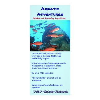 Aventuras acuáticas, tarjeta del estante tarjetas publicitarias