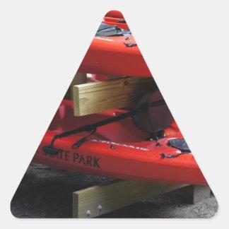 Aventuras al aire libre pegatinas de triangulo personalizadas