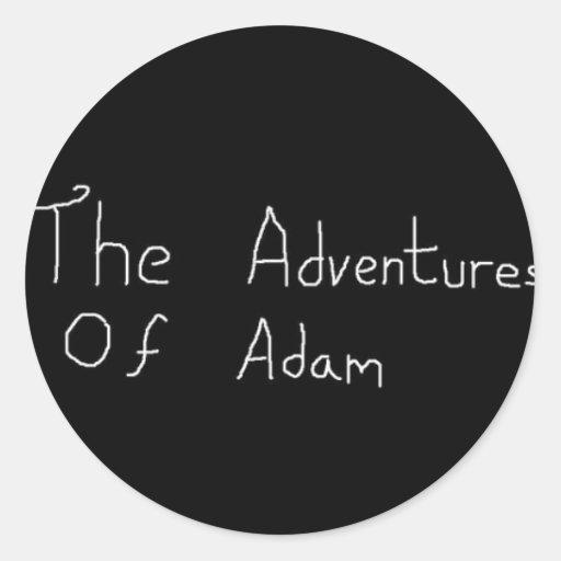 Aventuras de Adán Merch Pegatina Redonda