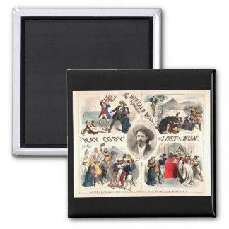 Aventuras de Buffalo Bill Imán Cuadrado