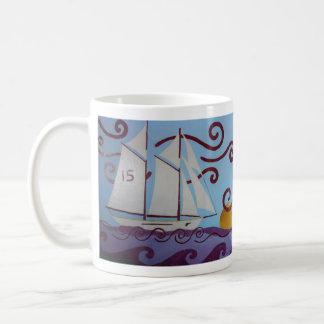 Aventuras de la navegación taza de café