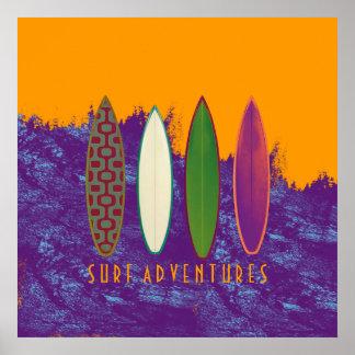 aventuras de la resaca, decoración de la playa póster