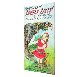 Aventuras de Lilly precioso por los pozos y Kaber Lienzo Envuelto Para Galerías