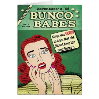¡Aventuras de los bebés #3 de Bunco - chocaron a Tarjeta De Felicitación