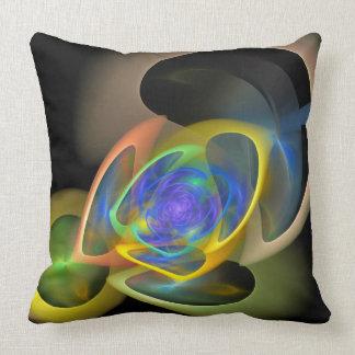 Aventuras del fractal, almohada de tiro abstracta