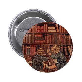 Aventuras en la biblioteca pin redondo 5 cm