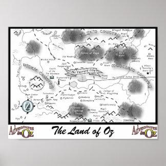 Aventuras en mapa de la onza póster