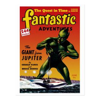 Aventuras fantásticas - gigante de la postal de Jú