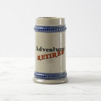 Aventurero (jubilado) jarra de cerveza