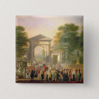 Avenue before the Botanical Gardens in Madrid, 178 Button