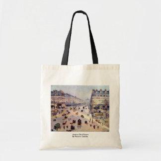 Avenue De L'Opera By Pissarro Camille Bag