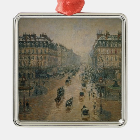 Avenue de L'Opera, Paris, 1898 Metal Ornament