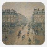 Avenue de L'Opera, París, 1898 Pegatinas Cuadradas