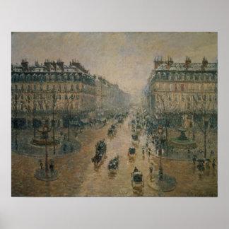 Avenue de L'Opera, Paris, 1898 Poster