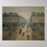 Avenue de L'Opera, París, 1898 Posters