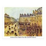 Avenue De L'Opera París de Camille Pissarro Tarjeta Postal