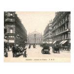 Avenue de l'Opera, Paris, France Vintage Postcard