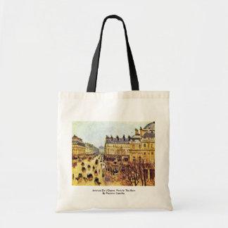 Avenue De L'Opera, Paris In The Rain Bags