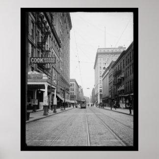 Avenue del sur de Rochester, 1904 Póster