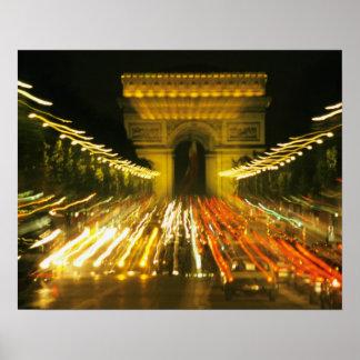 Avenue des Champs-Elysees, Arch of Triumph, Poster