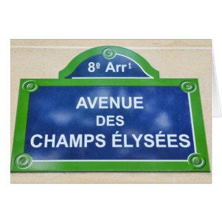 Avenue des Champs-Elysées Card
