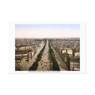 Avenue des Champs-Élysées Paris, France c1904 Canvas Print