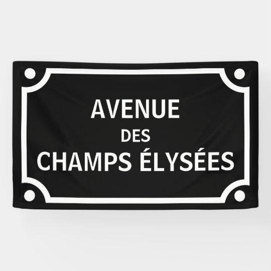 3 Inch Avenue Des Champs Elysees Paris Street Sign Patch Badge